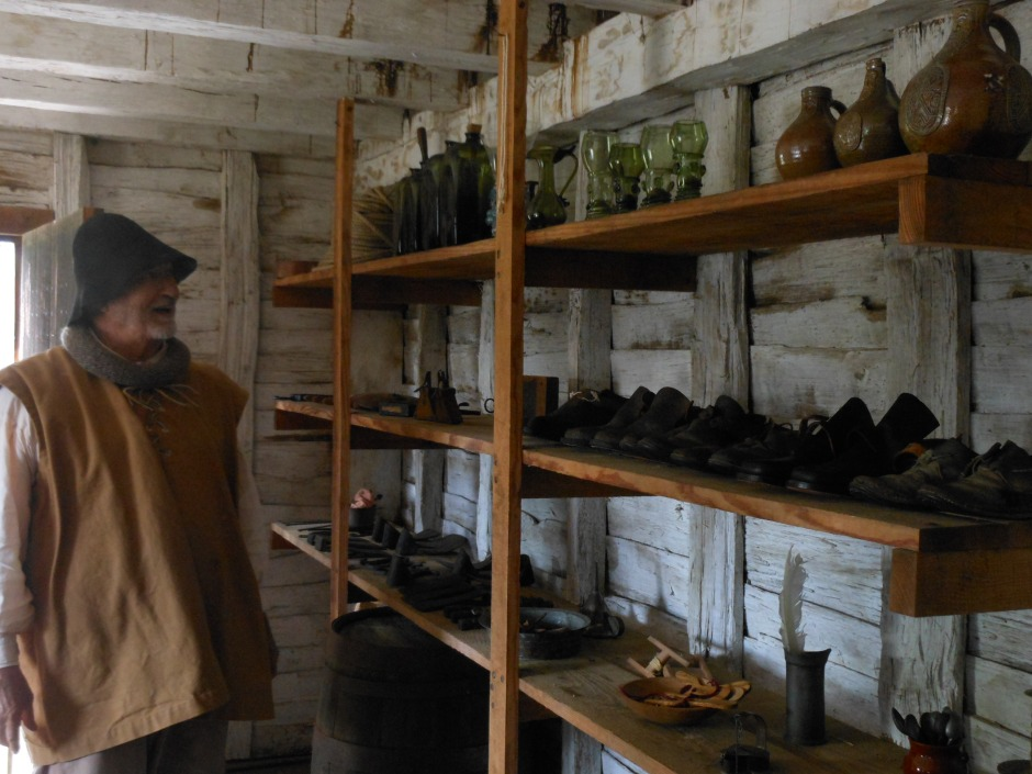 Reconstructed shop, mid- to late-17th c. Photo: Margaret Yocom, 2013.
