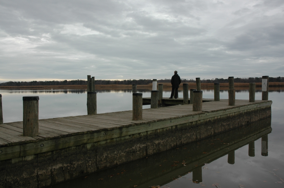 Pier, Patuxent River at the boat ramp. Photo: Margaret Yocom, 2013.